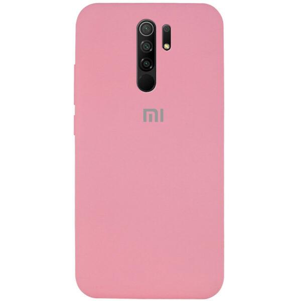 Оригинальный чехол Silicone Cover 360 с микрофиброй для Xiaomi Redmi 9 – Розовый / Pink