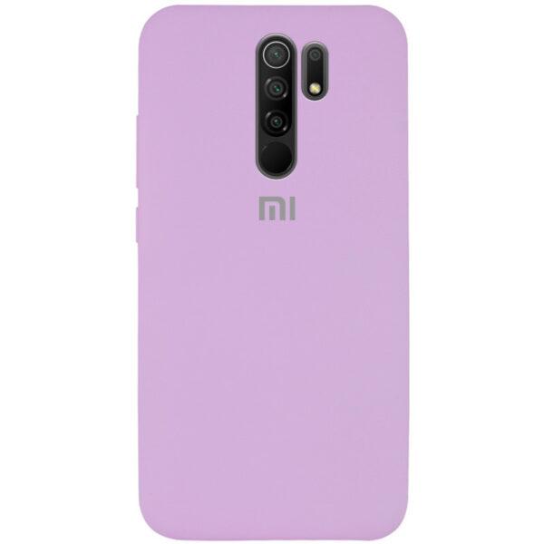 Оригинальный чехол Silicone Cover 360 с микрофиброй для Xiaomi Redmi 9 – Сиреневый / Lilac