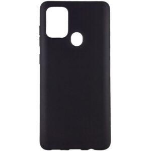 Матовый силиконовый TPU чехол для Samsung Galaxy A21s – Черный