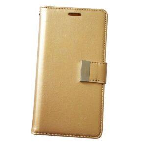 Кожаный чехол-книжка Goospery Rich Diary Wallet Case для Meizu M6 Note – Gold
