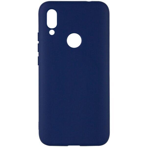 Чехол Silicone Cover под магнитнитный держатель для Xiaomi Redmi Note 7 / 7 Pro – Темно-синий