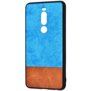 Чехол TPU+PC New Textile Case для Meizu M8 Note / Note 8 – Blue brown