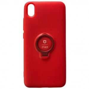 Cиликоновый чехол iFace под магнитный держатель с кольцом для Xiaomi Redmi 7A – Red