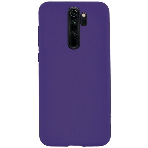Чехол Silicone Cover Full without Logo (A) с микрофиброй для Xiaomi Redmi 9 – Фиолетовый / Purple