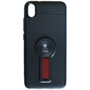 Cиликоновый чехол iFace popsoket под магнитный держатель с кольцом для Xiaomi Redmi 7A – Black / red