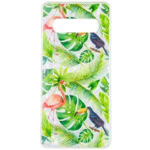TPU чехол Glue Case Фламинго для Samsung Galaxy S10 Plus (G975) – Зеленый