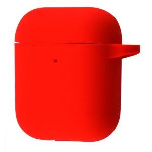 Чехол для наушников Silicone Case New + карабин для Apple Airpods 1/2 – Red