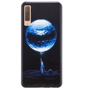 Чехол TPU Night Case для Samsung Galaxy A7 2018 A750 – Девушка и планета