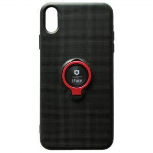 Cиликоновый чехол iFace под магнитный держатель с кольцом для Xiaomi Redmi 7A – Black / red
