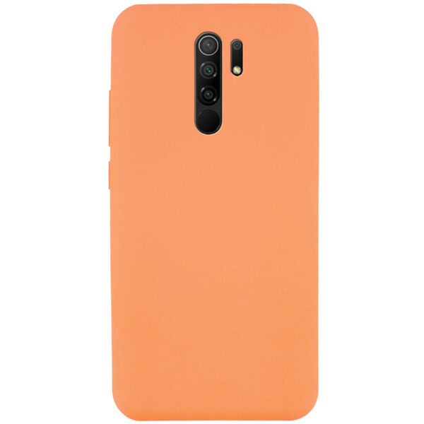Чехол Silicone Cover Full without Logo (A) с микрофиброй для Xiaomi Redmi 9 – Оранжевый / Papaya