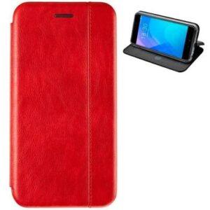 Кожаный чехол-книжка Leather Gelius для Huawei P Smart Z – Red