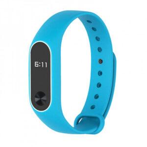 Ремешок для фитнес-браслета Silicone Line Xiaomi Mi Band 2 – Blue / White