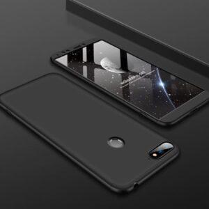 Матовый пластиковый чехол GKK 360 градусов для Huawei Honor 7A Pro / Y6 Prime 2018 – Черный