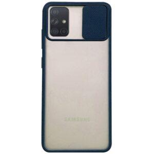 Чехол Camshield mate TPU со шторкой для камеры для Samsung Galaxy A71 – Синий