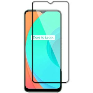 Защитное стекло 3D (5D) Full Glue Armor Glass на весь экран для Realme С11 – Black