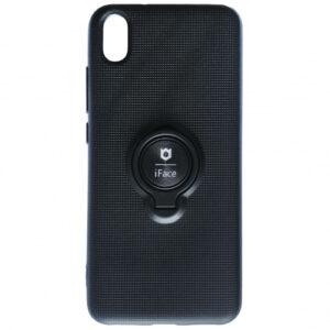 Cиликоновый чехол iFace под магнитный держатель с кольцом для Xiaomi Redmi 7A – Black