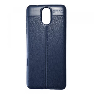 TPU чехол фактурный (с имитацией кожи) для Nokia 3.1 – Blue