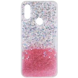 Cиликоновый чехол Galaxy Glitter для Xiaomi Redmi 7 – Розовый