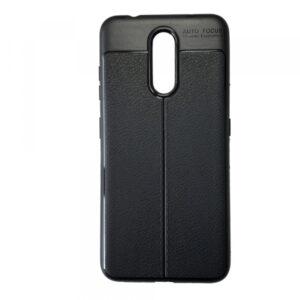 TPU чехол фактурный (с имитацией кожи) для Nokia 3.2 – Black