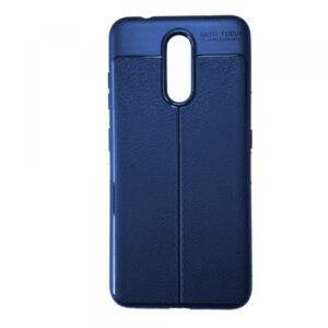 TPU чехол фактурный (с имитацией кожи) для Nokia 3.2 – Blue