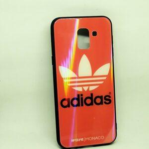 TPU+Glass чехол Monaco Case с рисунком для Samsung Galaxy A6 Plus 2018 (A605) – Adidas