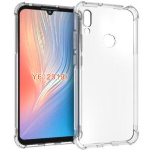 Прозрачный силиконовый TPU чехол с усиленными углами для Huawei Y6 / Honor 8A / Y6s (2019) – Clear
