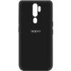 Оригинальный чехол Silicone Cover My Color (A) с микрофиброй для Oppo A9 (2020) – Черный / Black