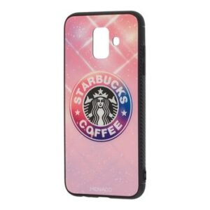 TPU+Glass чехол Monaco Case с рисунком для Samsung Galaxy A6 Plus 2018 (A605) – Starbucks