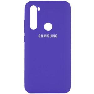 Оригинальный чехол Silicone Cover 360 с микрофиброй для Samsung Galaxy A21 – Фиолетовый / Purple