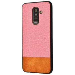 Чехол TPU+PC New Textile Case для Samsung Galaxy A6 Plus 2018 (A605) – Pink brown