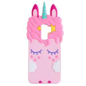 Силиконовый чехол 3D Единорог для Samsung Galaxy S9 Plus (G965) – Розовый
