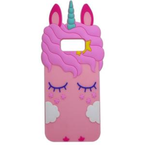 Силиконовый чехол 3D Единорог для Samsung Galaxy S8 Plus (G955) – Розовый