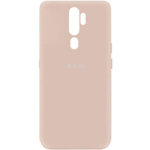 Оригинальный чехол Silicone Cover My Color (A) с микрофиброй для Oppo A9 (2020) – Розовый / Pink Sand