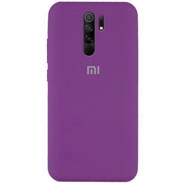 Оригинальный чехол Silicone Cover 360 с микрофиброй для Xiaomi Redmi 9 – Фиолетовый / Grape