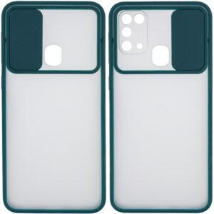 Чехол Camshield mate TPU со шторкой для камеры для Samsung Galaxy M31 – Зеленый
