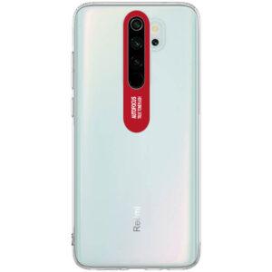 Прозрачный силиконовый TPU чехол Epic clear flash для Xiaomi Redmi Note 8 Pro – Красный