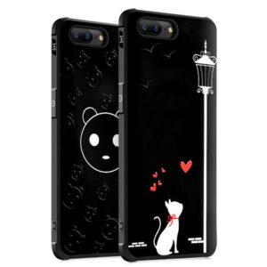 Противоударный TPU чехол Sweet Art для OnePlus 5 – Влюбленная кошка