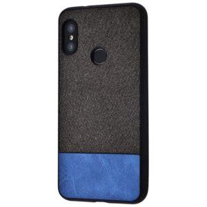 Чехол TPU+PC New Textile Case для Xiaomi Mi A2 Lite / Redmi 6 Pro – Black / blue