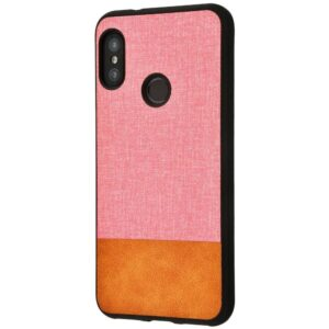 Чехол TPU+PC New Textile Case для Xiaomi Mi A2 Lite / Redmi 6 Pro – Pink / brown
