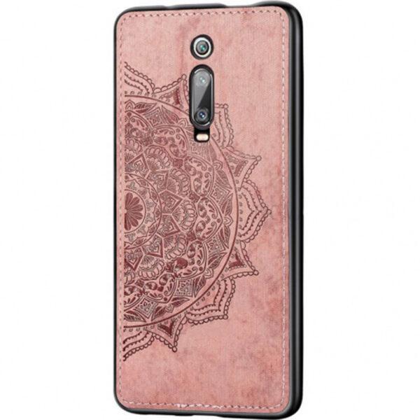TPU+Textile чехол Mandala с 3D тиснением для Xiaomi Redmi K20 / K20 Pro / Mi 9T / Mi 9T Pro – Розовый