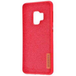 TPU чехол Label Case Textile для Samsung Galaxy S9 (G960) – Red