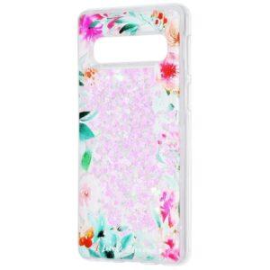 TPU+PC чехол Lovely Stream с переливающимися блестками для Samsung Galaxy S10 (G973) – Flowering corners