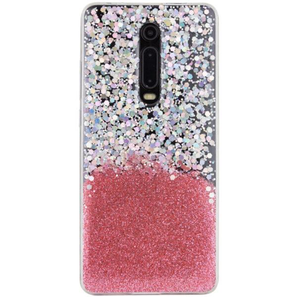 Cиликоновый чехол Galaxy Glitter для Xiaomi Redmi K20 / K20 Pro / Mi 9T / Mi 9T Pro – Розовый