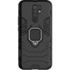 Ударопрочный чехол Transformer Ring под магнитный держатель для Xiaomi Redmi 9 – Черный / Soul Black