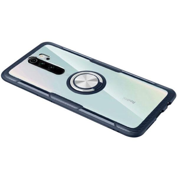 Чехол TPU+PC Deen CrystalRing с креплением под магнитный держатель для Xiaomi Redmi 9 – Темно-синий