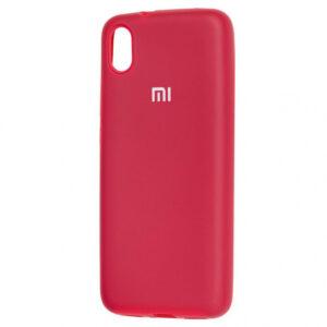 Оригинальный чехол Silicone Cover 360 с микрофиброй для Xiaomi Redmi 7A – Розовый / Hot Pink