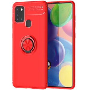 Cиликоновый чехол Deen ColorRing c креплением под магнитный держатель для Samsung Galaxy A21s – Красный