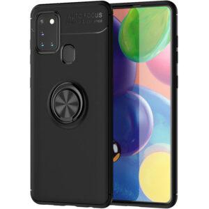Cиликоновый чехол Deen ColorRing c креплением под магнитный держатель для Samsung Galaxy A21s – Черный