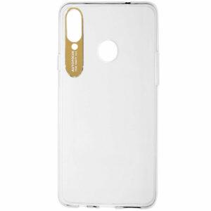 Прозрачный силиконовый TPU чехол Epic clear flash для Samsung Galaxy A20s 2019 (A207) – Золотой