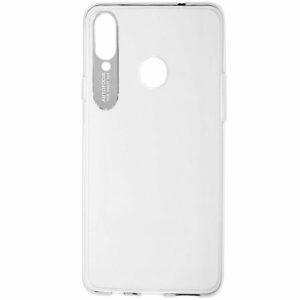 Прозрачный силиконовый TPU чехол Epic clear flash для Samsung Galaxy A20s 2019 (A207) – Серебряный